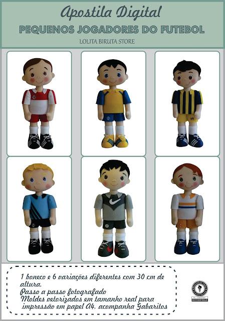 Apostila digital tema jogadores de futebol