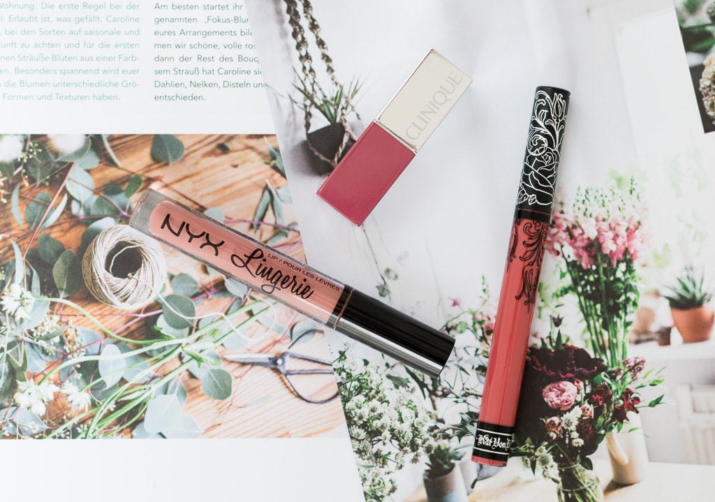 Blogparade Top 3 Herbst Lippenstifte Nyx Clinique KatVonD