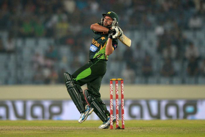 Afridi hit most sixes webofinfo