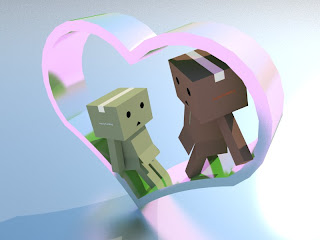 Wallpaper gambar danbo romantis