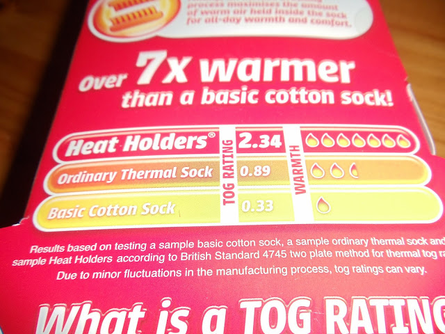 packaging of Heat holder socks