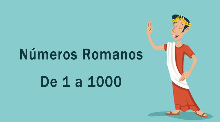 Números romanos de 1 a 1000