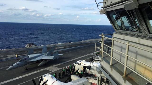 Tàu sân bay Mỹ dẫn đầu các tàu chiến tập trận rầm rộ ở Nhật Bản