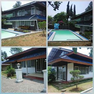 sewa villa di puncak ada kolam renang pribadi