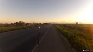 Bela paisagem de fim de tarde.