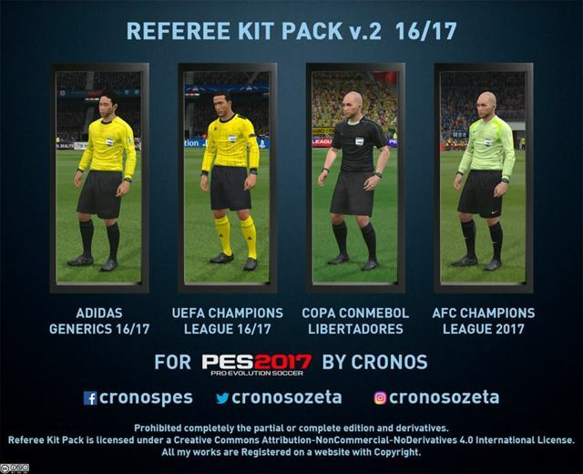 PES 2017 Referee Kit Pack 16/17
