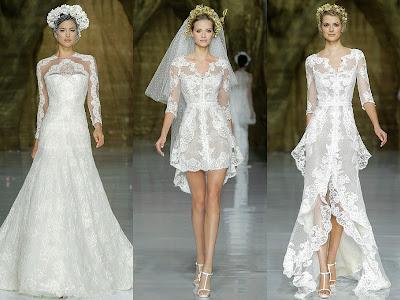Robes de mariée princesse en dentelle