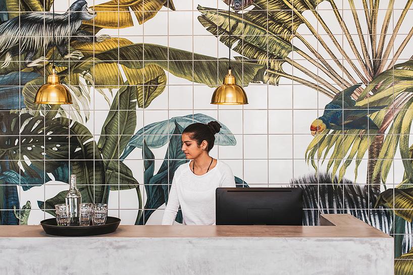 Piastrelle decorative con paesaggio naturale hotel casa cook in