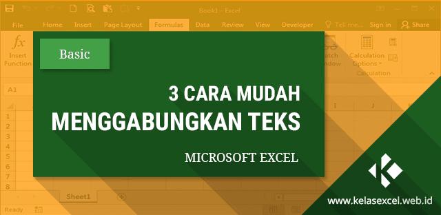 3 Cara Menggabungkan Teks dan Data Cell Pada Excel