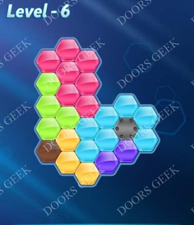 Block! Hexa Puzzle [6 Mania] Level 6 Solution, Cheats, Walkthrough for android, iphone, ipad, ipod