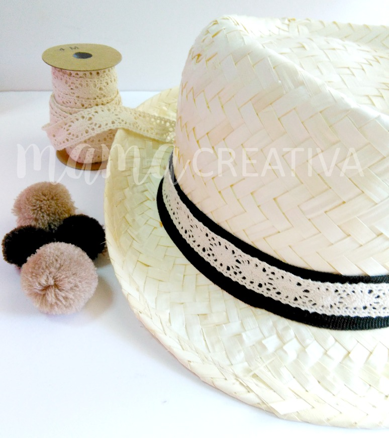 como decorar un sombrero de paja