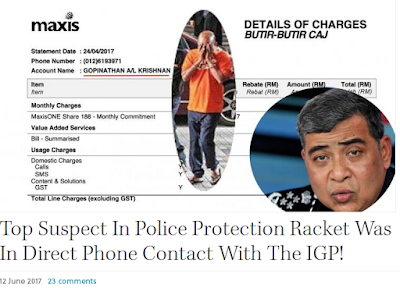 Image result for images of igp khalid on protection racket