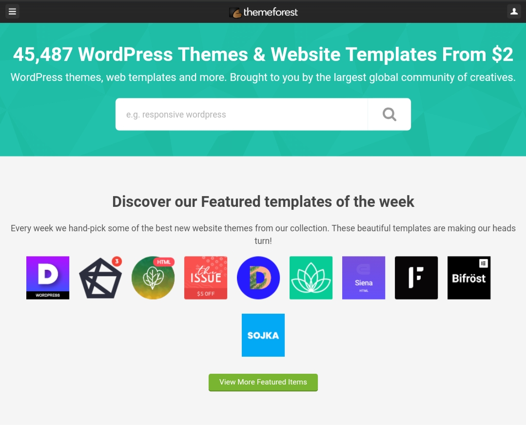 Themeforest website