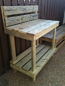 "48"" Potting Bench with High Back"