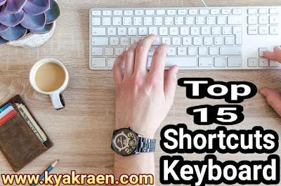Top 15 Computer shortcuts keyboard ki jankari step by step hindi me.(Ctrl+F)Ctrl+Z . Ctrl+W. Ctrl+A:.Ctrl+Esc.Alt+Tab:.Alt+F4:.F2.F3:.F5:.F7.F11.Win+IWin+ L..Win+S.  In shortcuts ki madad se aap apna kafi samay bacha sakte hai.