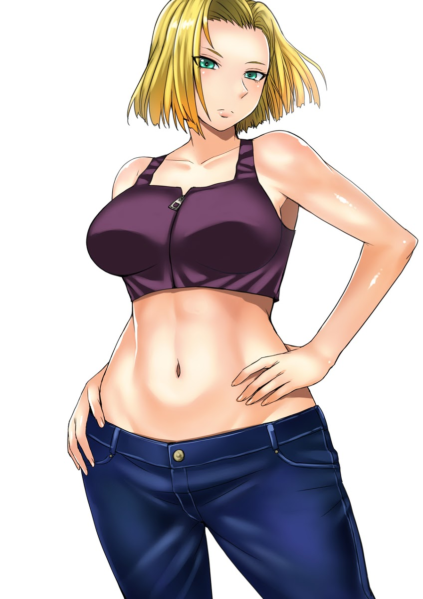 android 18 midriff