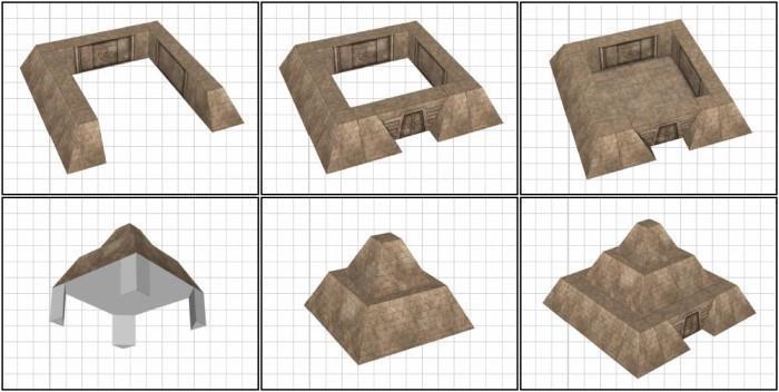 how to make a ziggurat model