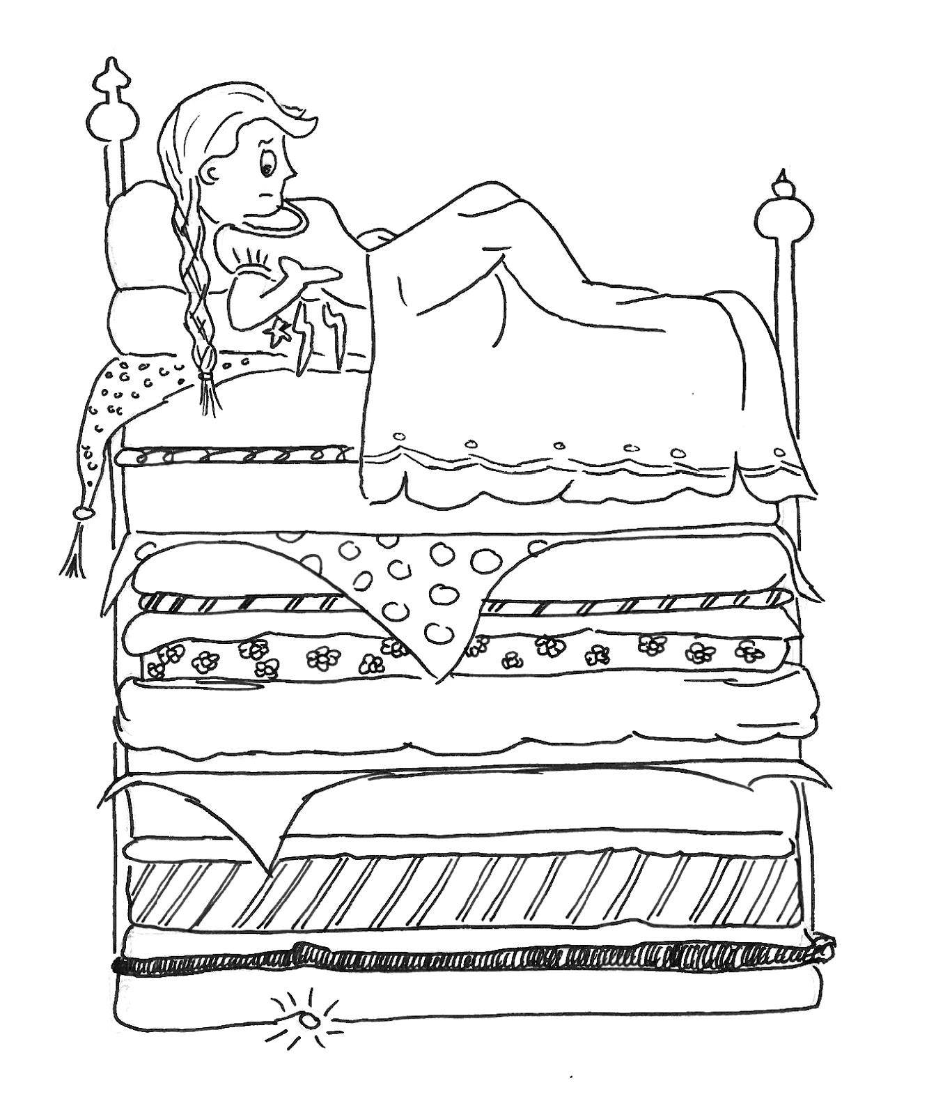 Kleurplaat Ariel Prinses