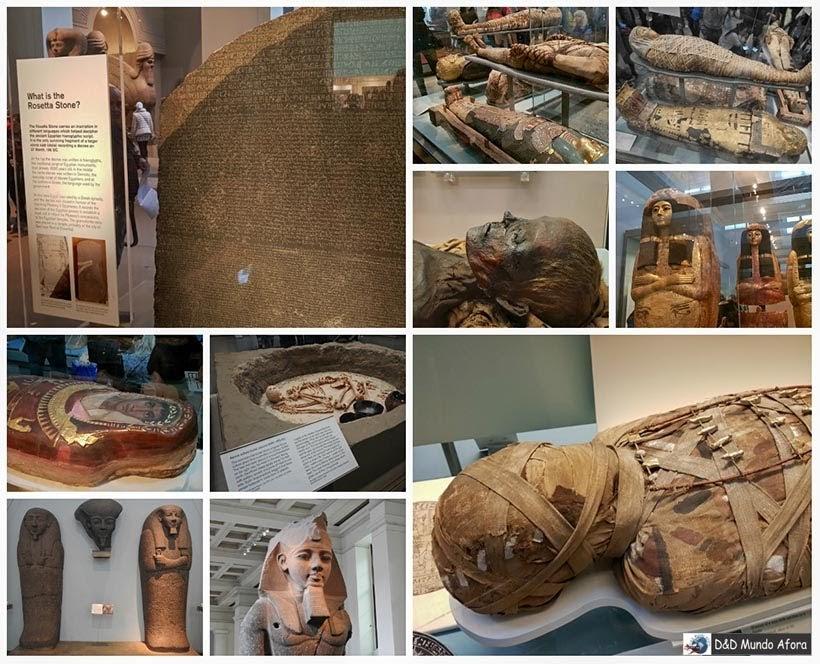 Sessão egípcia no Museu Britânico- Diário de Bordo - 5 dias em Londres