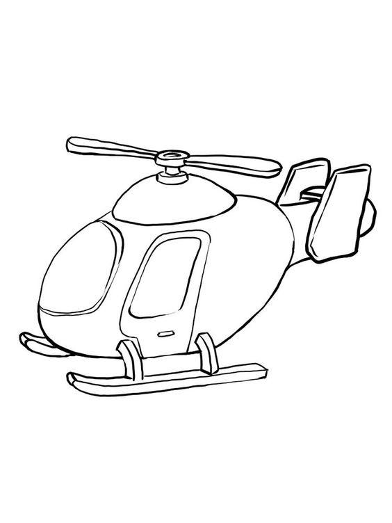 Tranh tô màu máy bay trực thăng cho bé 5 tuổi