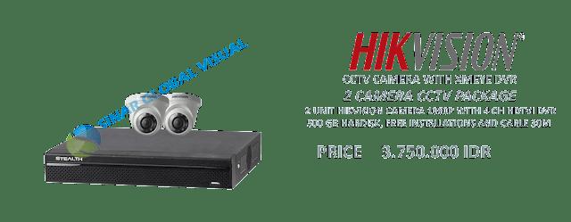 Paket Pasang 2 Kamera CCTV HIKVISION Murah