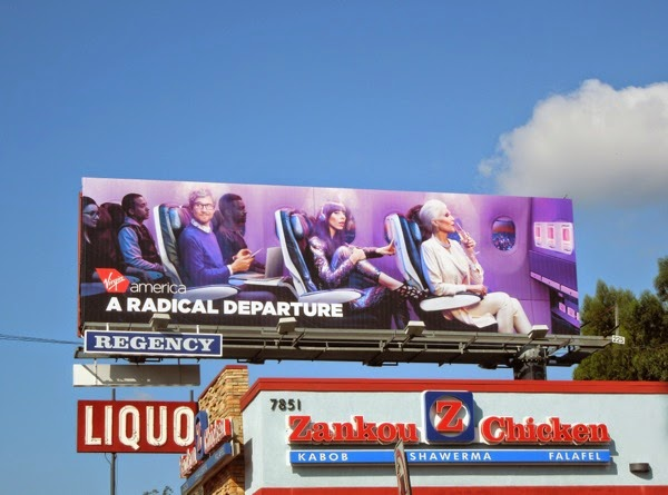 Virgin America radical departure billboard