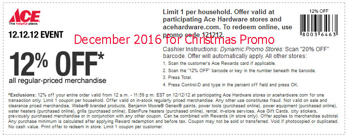 photo relating to Ace Hardware Printable Coupons named Ace components discount codes december 2018 / Ac moore coupon codes