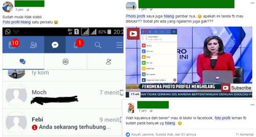 Foto Profil Facebook Mendadak Hilang, Benarkah Karena Isu Penutupan Facebook ? Atau Terkena Hack?