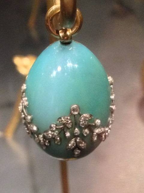 At the fabulous faberge exhibition in montreals musuem of fine arts egg pendant chalcedony gold and diamonds aloadofball Choice Image