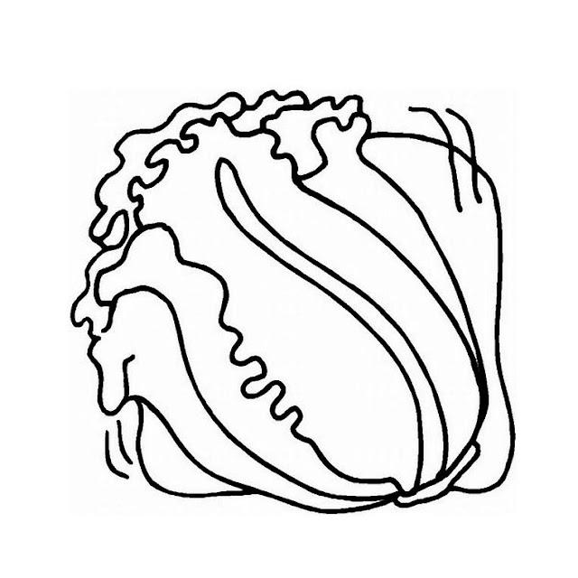 dibujos ensaladas para colorear