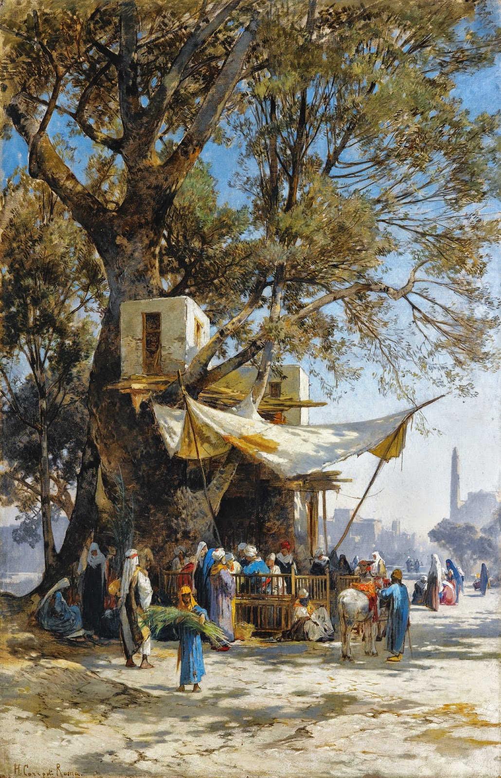 لوحات نادرة مصر بعيون Hermann Corrodi   - مجموعة ثانية
