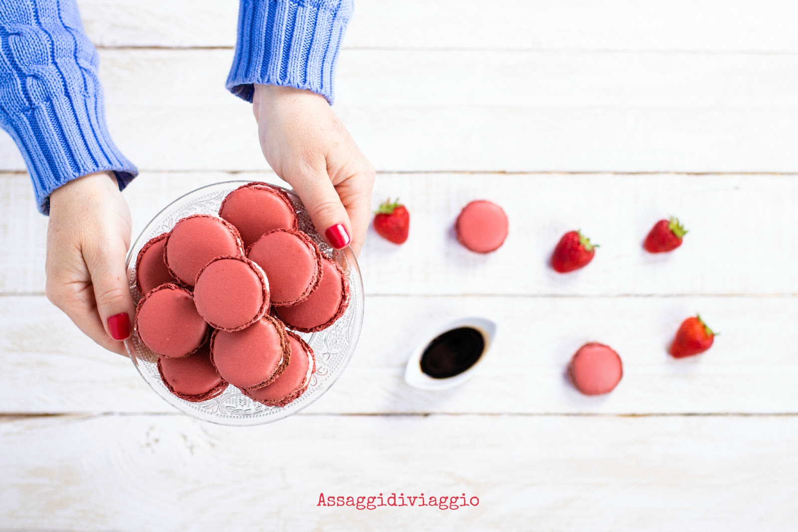 Macarons alle fragole ed aceto balsamico