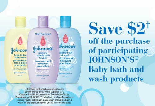 Canadian Daily Deals: Canadian Coupons: Johnson's Baby ...