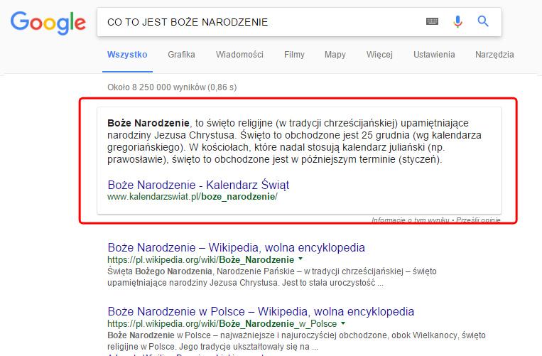 6 ciekawostek z wyników wyszukiwania Google | Google, Facebook, SEO, e-commerce, strony www | emedia sp. z o. o.