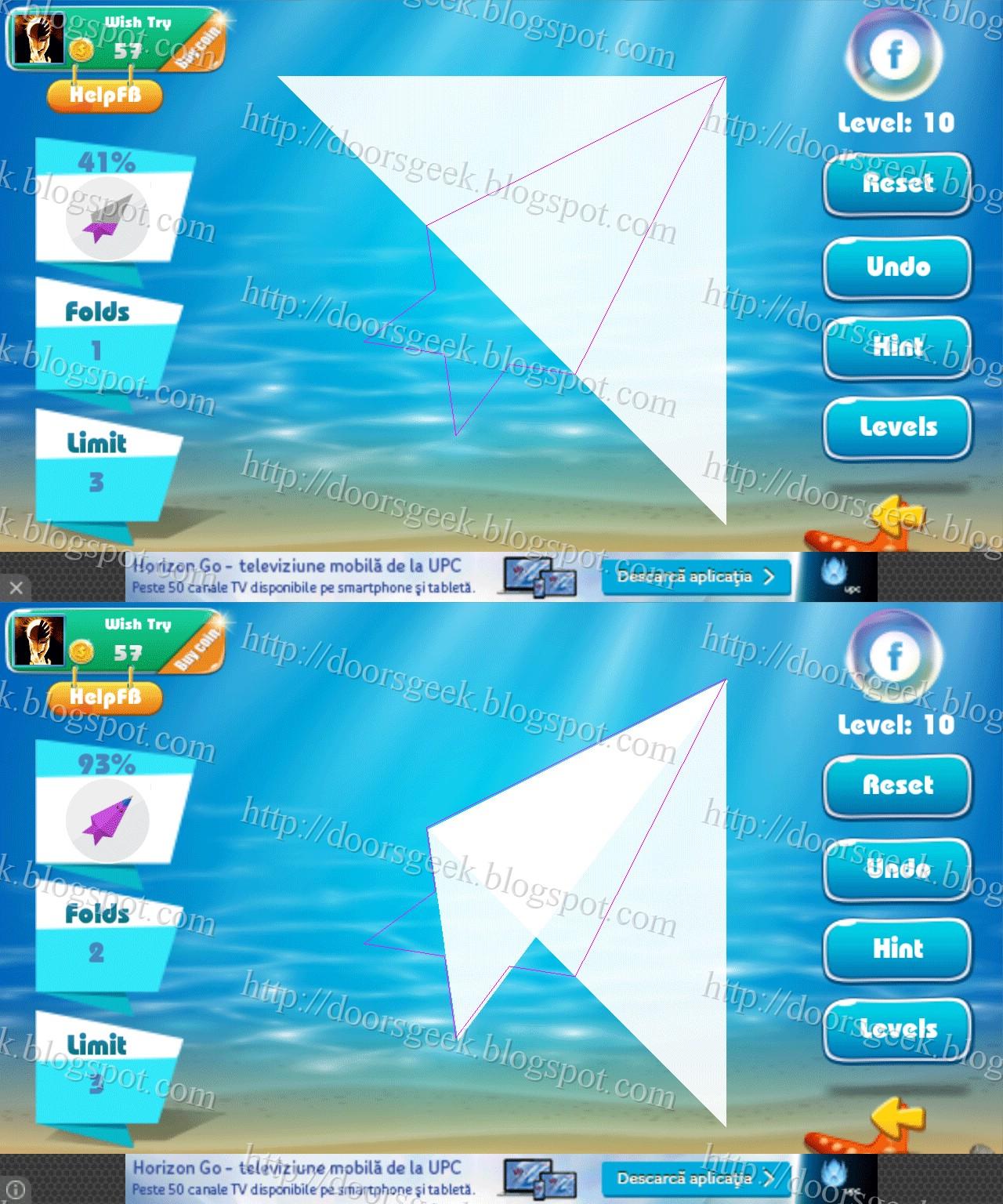 Paper Folding - Origami Level 10 Solution ~ Doors Geek - photo#20