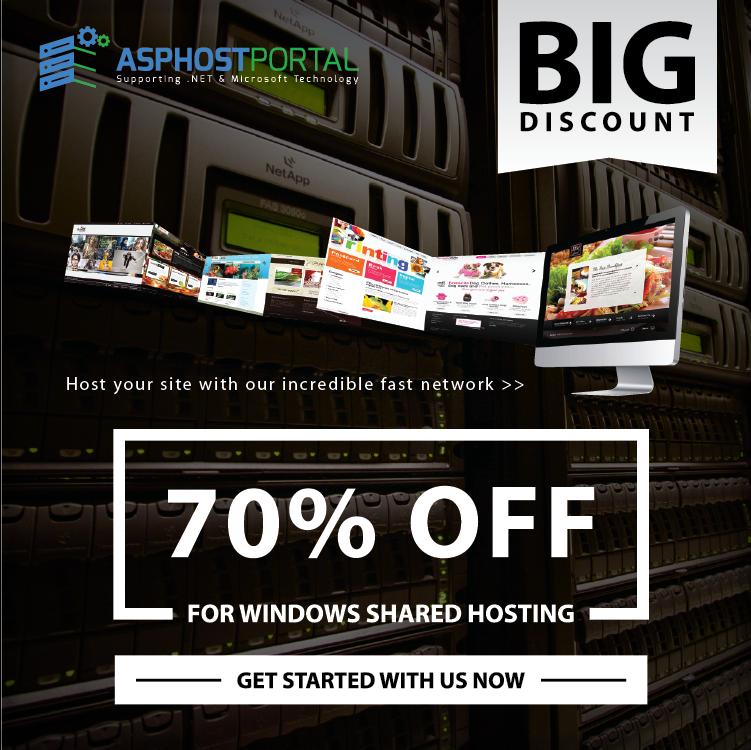 Best ASP.NET Hosting :: BIG DISCOUNT 70% for Windows Shared Hosting on ASPHostPortal.com