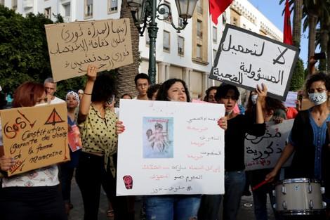 حناجر مغربيات تصدح أمام البرلمان .. أوقفوا الاغتصاب والتحرش