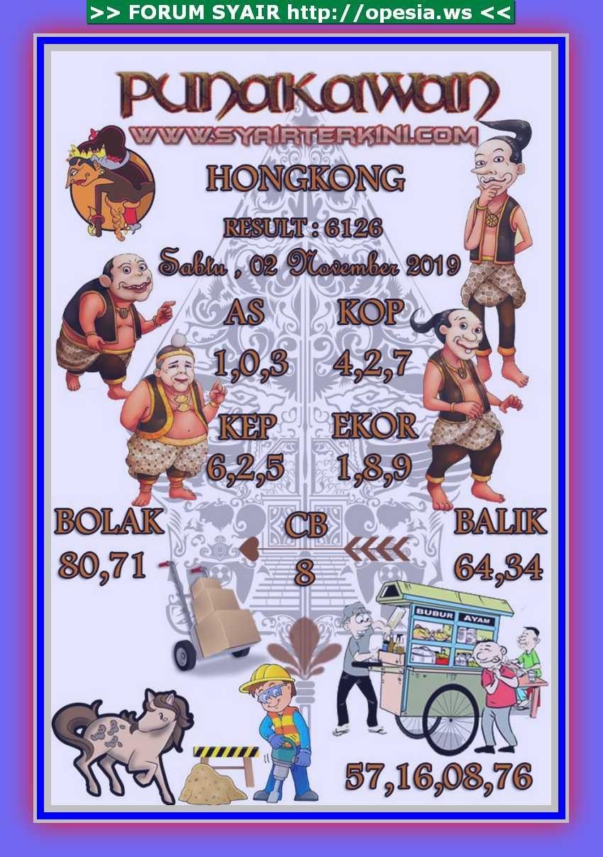 Kode syair Hongkong Sabtu 2 November 2019 33