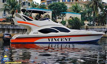 sewa kapal speedboat vincent dermaga marina ancol