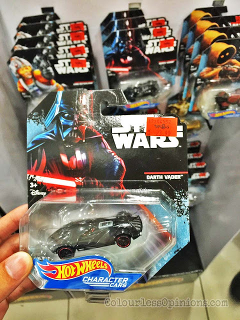 hot wheels darth vader star wars character car