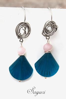 sea glass earrings by Sayuri