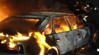 горящ автомобил