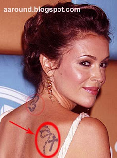 Alyssa Milano with Tattoo