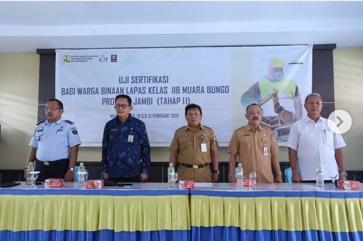 Dinas PUPR Provinsi Jambi Gelar Uji Sertifikasi Bagi Warga Binaan Lapas Klas II B Muaro Bungo