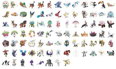 Generation 7 Pokemon List