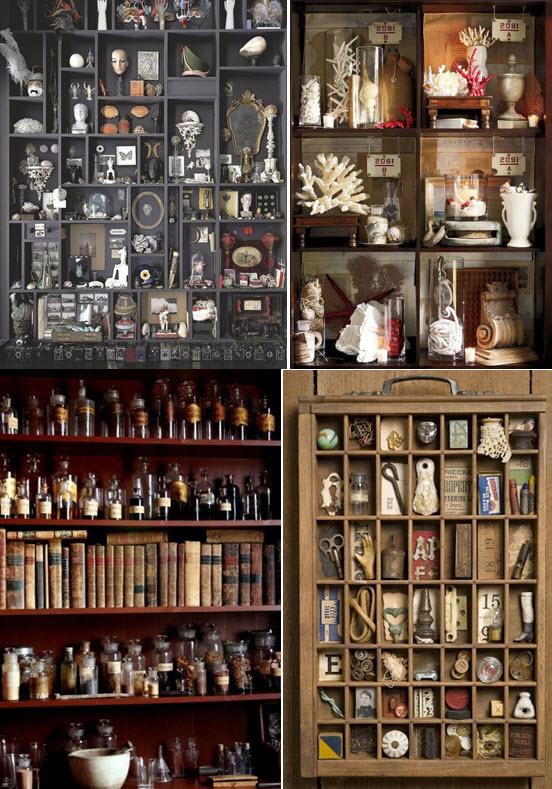 Un cabinet de curiosités géant ou discret? Voici des idées à ta portée!