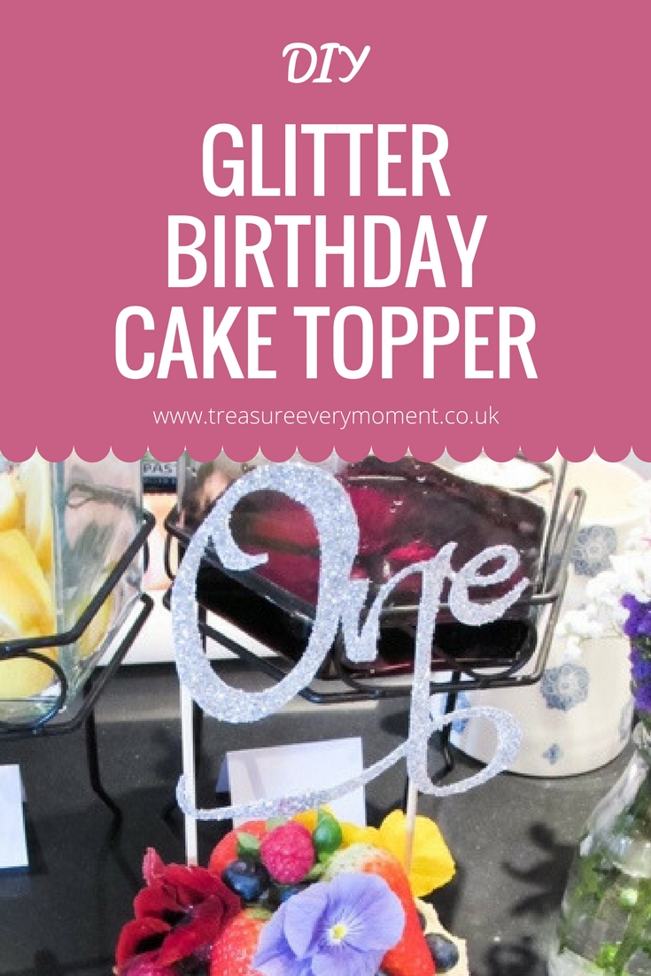 DIY: Glitter Birthday Cake Topper