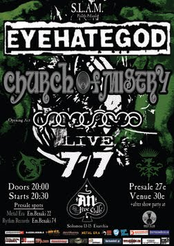 [Live Report] Eyehategod, Church Of Misery, Gomgoma @ Athens, 07/07/2011