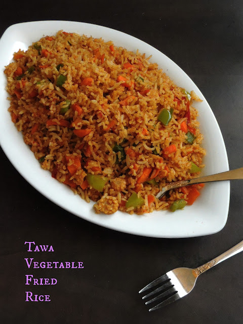 Tawa vegetable fried rice
