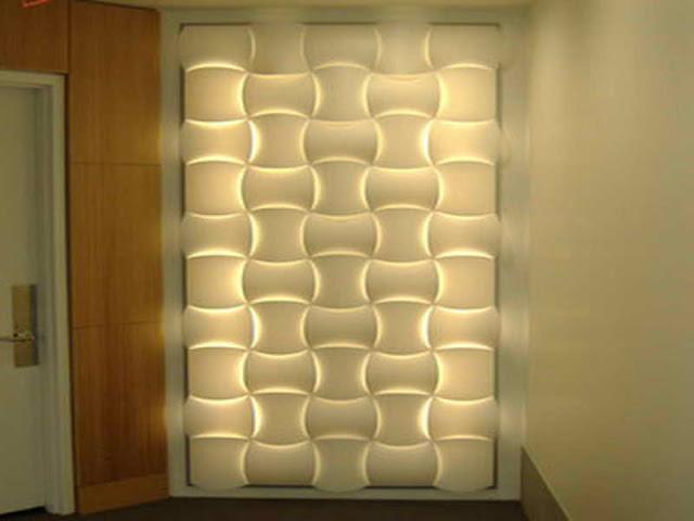 Decorative Wall Lighting Systems Decorative Wall Lighting Systems wall decor ideas 3D panels with LED lighting